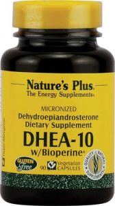 DHEA 10 mg avec Biopérine - 90 capsules végétales