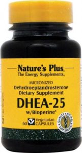 DHEA 25 mg avec Biopérine - 60 capsules végétales